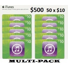 $500 iTunes Gift Card Apple USA Code Emailed $10 Multi-pack Wholesale
