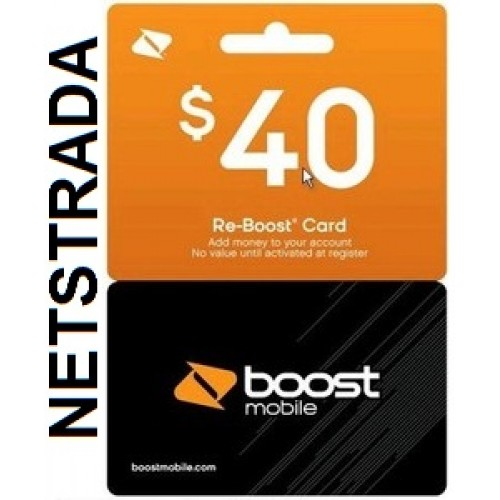 Boost Mobile $40 BM Cell Phone Refill TopUp AirTime Pay as ...