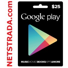 Google Play $25 Gift Card Store Vouchers Prepaid Code Emailed Worldwide 25$