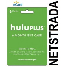 Hulu Plus 6 Month USA Membership Gift Card Half Year Emailed World wide