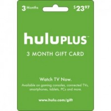 Hulu Plus 3 Month USA Membership Gift Card Emailed World wide