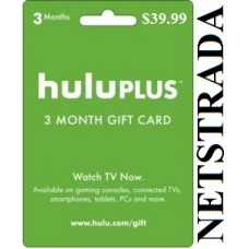 Hulu Plus 3 Month USA Membership Gift Card 90 days Emailed Worldwide