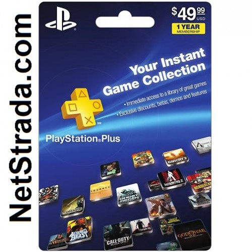 sony playstation plus 12 month subscription card for ps. Black Bedroom Furniture Sets. Home Design Ideas