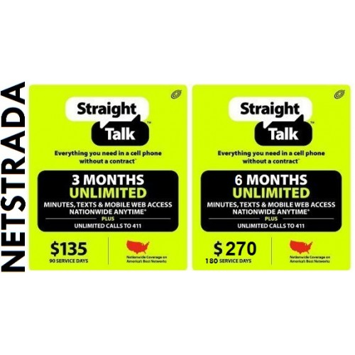 Straight Talk $45 Prepaid service Top Up Refill Reload Card