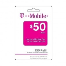 T-Mobile $50 Monthly 4G Refill Unlimited Text, Talk and Web service 100Mb PIN Phone Top Up Today!