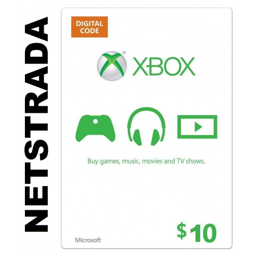 xbox 10 usa live gift card microsoft points ms voucher emailed