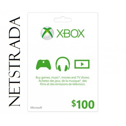 XBOX 100 USD GIFT CARD LIVE MICROSOFT POINTS MS CODE EMAILED ...