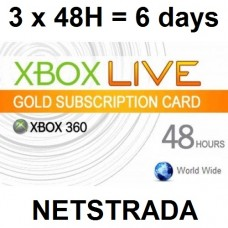 3 x Xbox Live 48 Hours Subscription 360 USA Gold Card code Emailed Today !