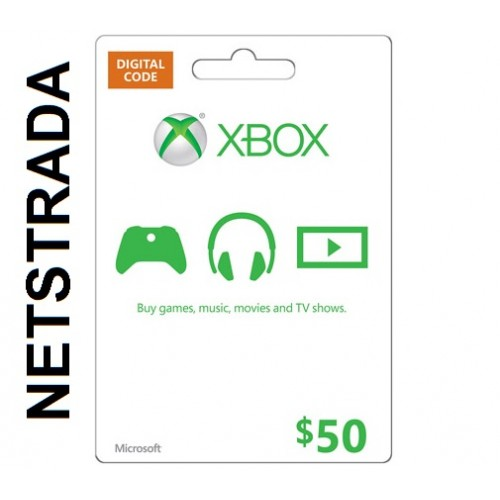 XBOX $50 USA LIVE GIFT CARD MICROSOFT POINTS MS CERTIFICATE ...
