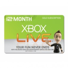 Xbox Live 12 Months Subscription 360 EU US UK PL AUS CANADA Worldwide Gold Card code Emailed