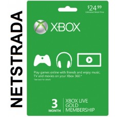 Xbox Live 3 Month Subscription 360 X1 Months USA Gold Gift Card code Emailed Worldwide